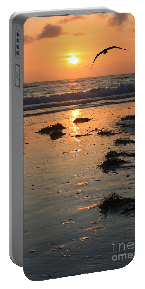 Ocean Portable Battery Charger featuring the photograph Wet Sunset by Irina Davis