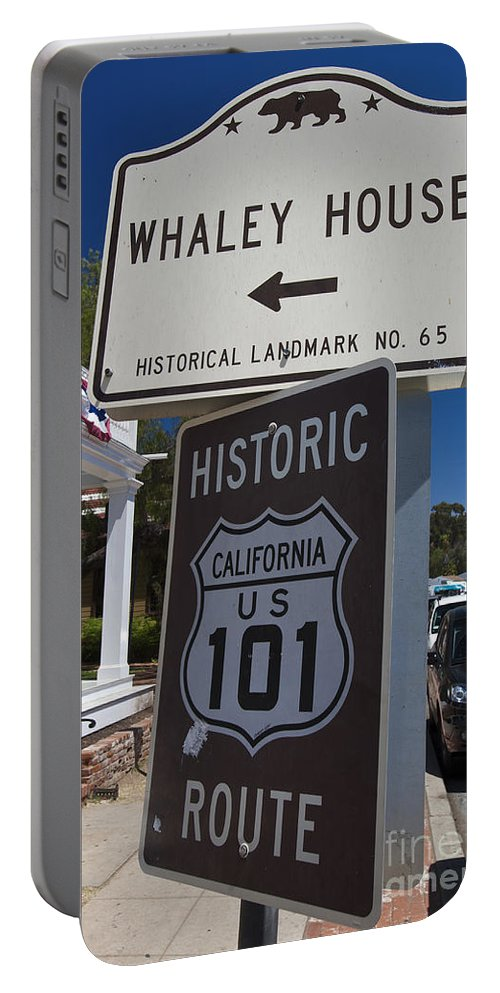 Travel Portable Battery Charger featuring the photograph Whaley House Us Hwy 101 Historic Route by Jason O Watson