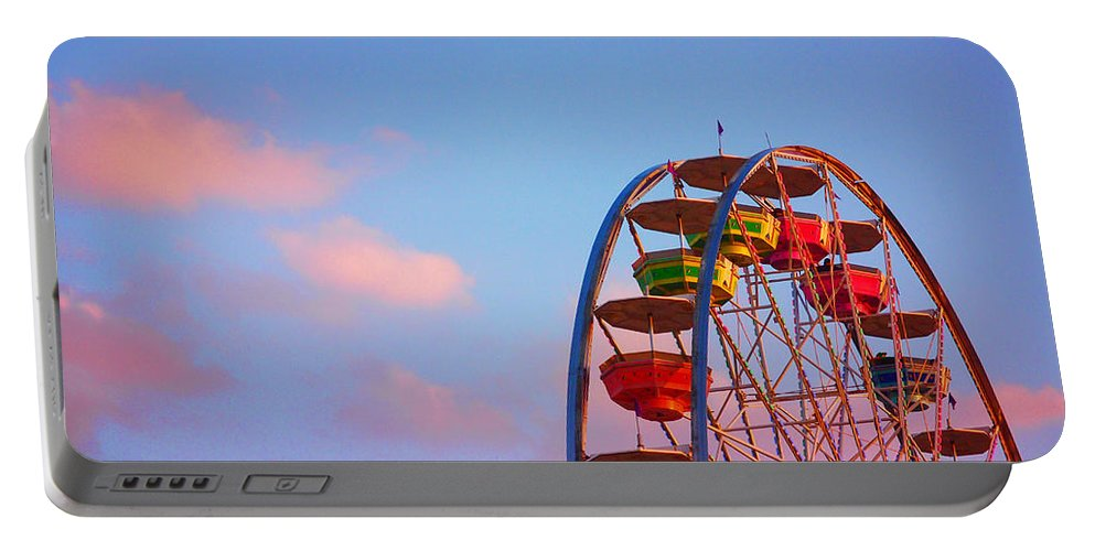 Wheel Of Fortune Portable Battery Charger featuring the photograph Wheel of Fortune by Skip Hunt