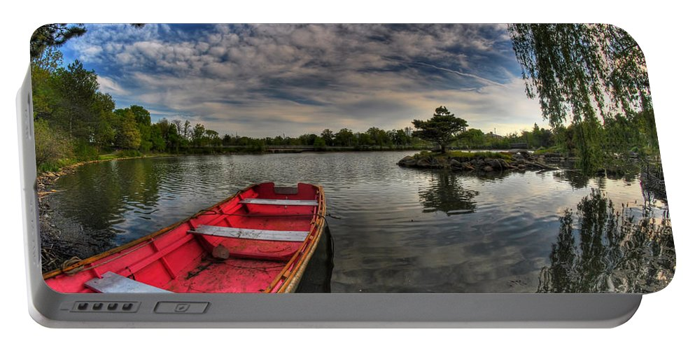 Canoe Portable Battery Charger featuring the photograph When All You Hear Is The Nature Around You...v4 by Michael Frank Jr