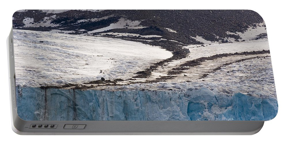 Moraines Portable Battery Charger featuring the photograph Where Glaciers Meet by John Shaw