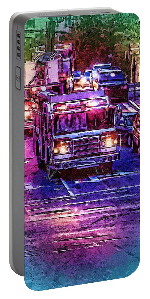 Fire Portable Battery Charger featuring the photograph Where Is The Fire by John Haldane