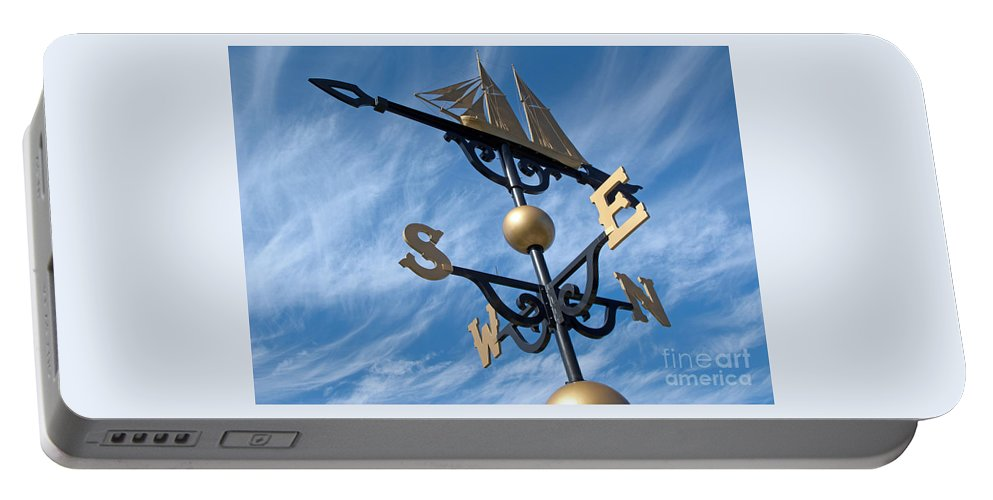 Weathervane Portable Battery Charger featuring the photograph Where The Wind Blows by Ann Horn