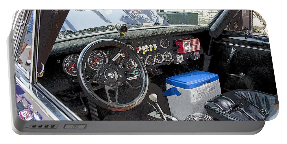Race Car Portable Battery Charger featuring the photograph Wheres The Ac Button by Rich Franco