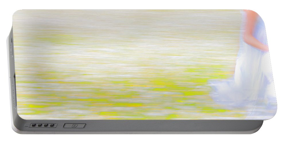 Impressionism Portable Battery Charger featuring the photograph Wherever She Ran by Theresa Tahara