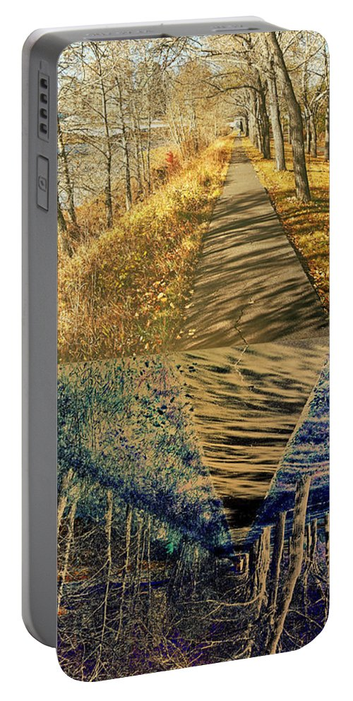 Path Portable Battery Charger featuring the photograph Which Path Do We Take by David Pantuso