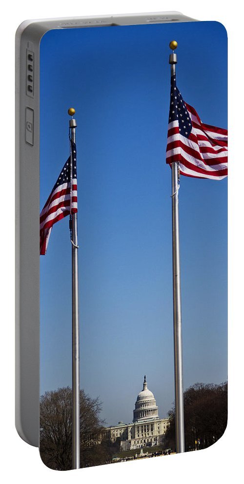 Flag Portable Battery Charger featuring the photograph Which Way The Wind Blows by Guy Shultz