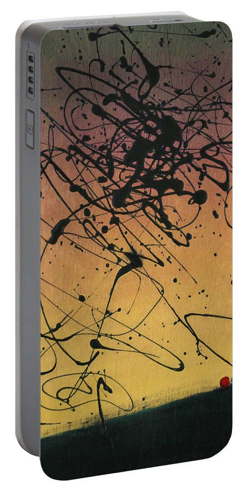 Sisyphus Portable Battery Charger featuring the painting While Sisyphus Slept by James W Johnson