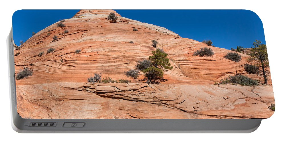 Landscape Portable Battery Charger featuring the photograph Whipped Rock by John M Bailey