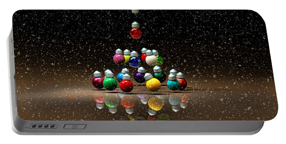 Snow Portable Battery Charger featuring the digital art White Christmas by Adam Vance