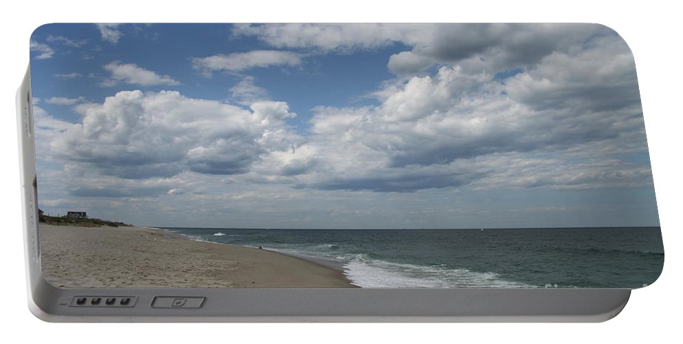 Clouds Portable Battery Charger featuring the photograph White Clouds Over The Ocean by Christiane Schulze Art And Photography