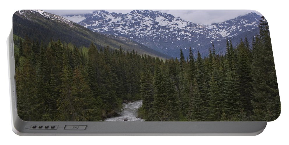 Alaska Portable Battery Charger featuring the photograph White Pass by Sandy Swanson