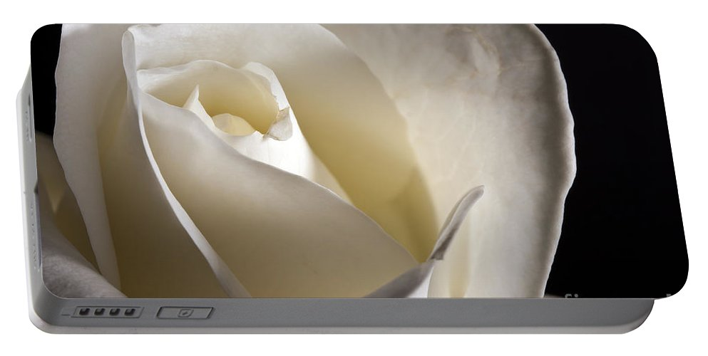 Beautiful Portable Battery Charger featuring the photograph White Roses by Gunnar Orn Arnason