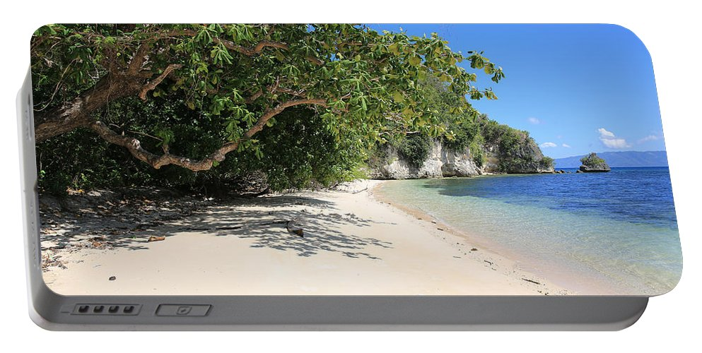 White Sand Portable Battery Charger featuring the photograph White Sand And Blue Sky by Paul Ranky
