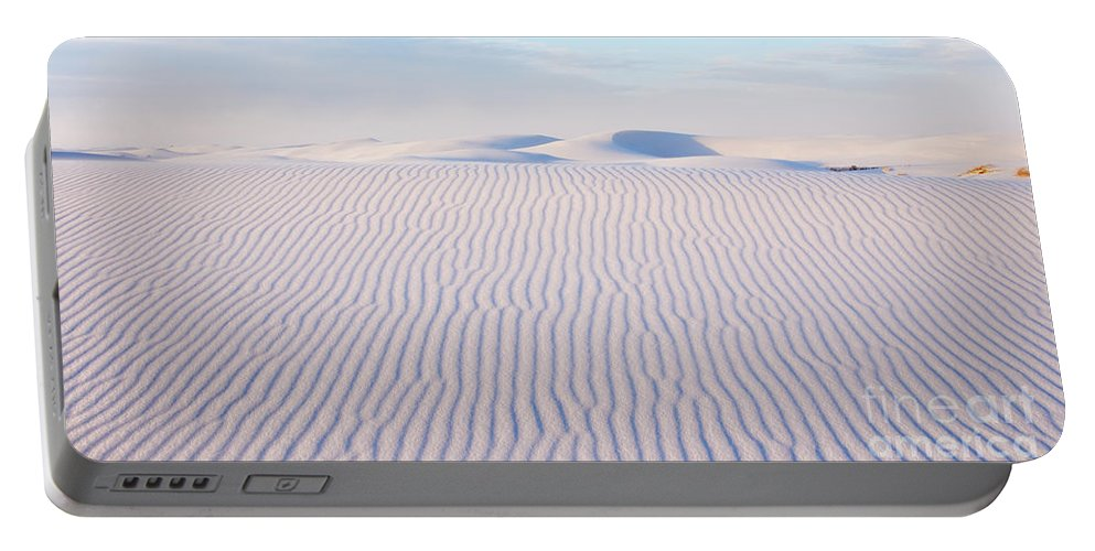 White Sands Portable Battery Charger featuring the photograph White Sands Serenity by Vivian Christopher