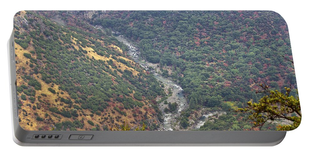 Kings Canyon Portable Battery Charger featuring the photograph White Waters by Angela Stanton