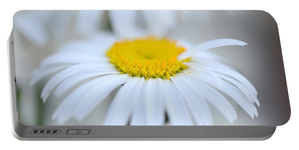 Daisy Portable Battery Charger featuring the photograph White Wedding by Donna Blackhall