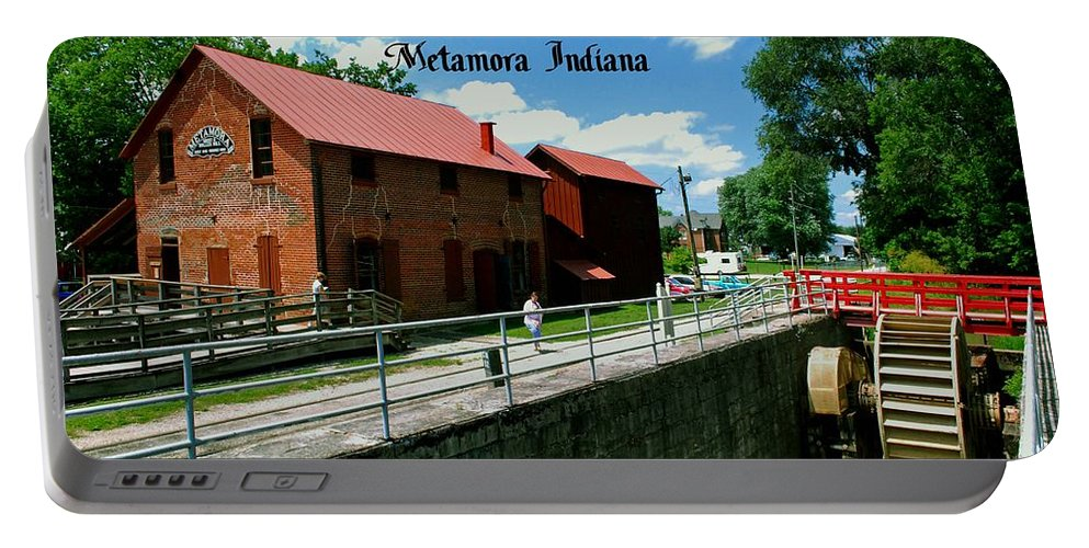 United Portable Battery Charger featuring the photograph Whitewater Canal Locks by Gary Wonning