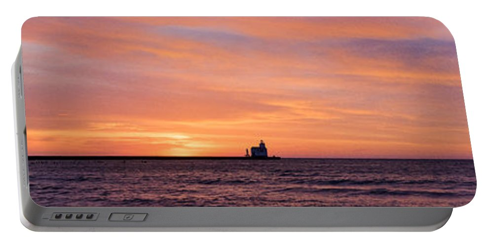 Lighthouse Portable Battery Charger featuring the photograph Wide Scene Format by Bill Pevlor