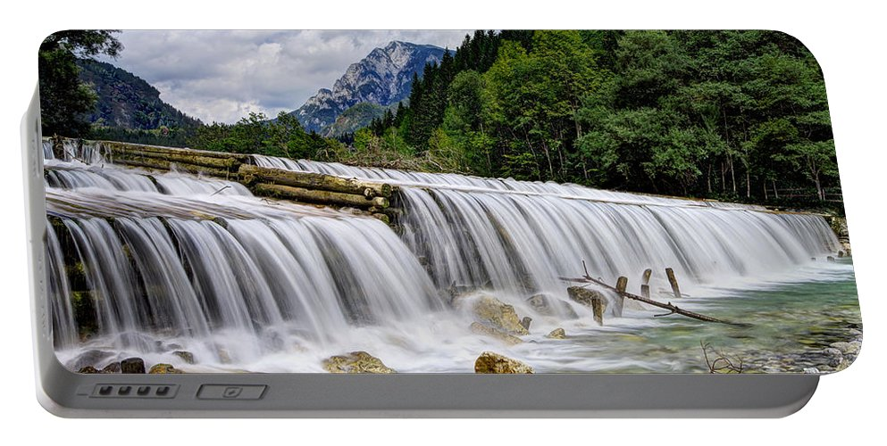 Adventure Portable Battery Charger featuring the photograph Wide Waterfall by Ivan Slosar