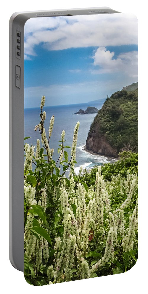 Big Island Portable Battery Charger featuring the photograph Wild Flowers At Pololu by Denise Bird