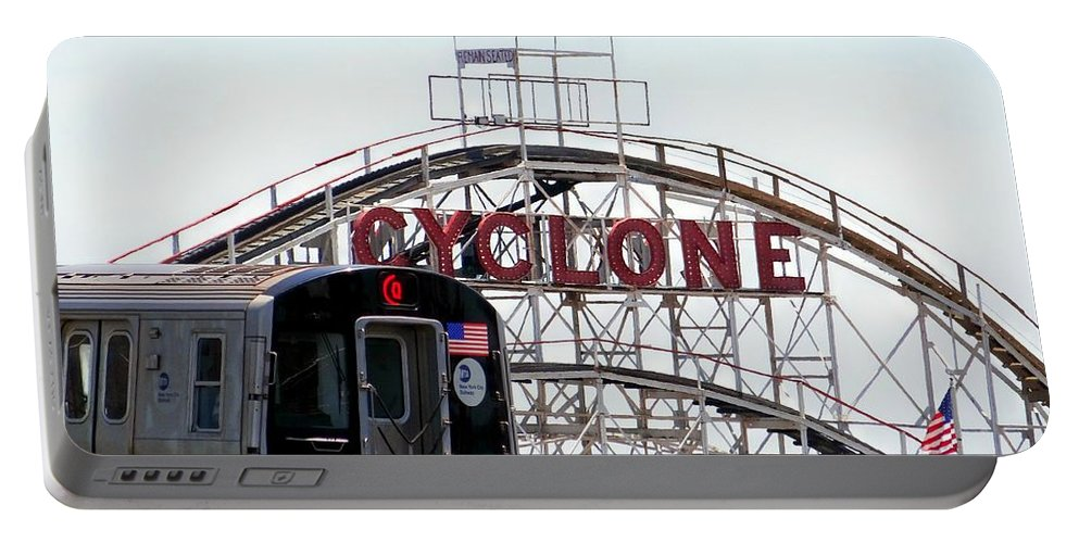 Coney Island Portable Battery Charger featuring the photograph Wild Rides by Ed Weidman