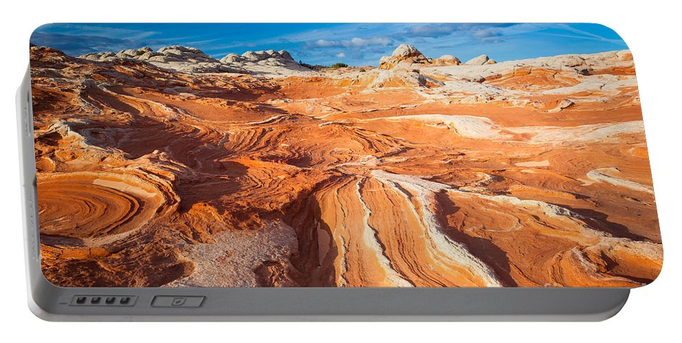 America Portable Battery Charger featuring the photograph Wild Sandstone Landscape by Inge Johnsson
