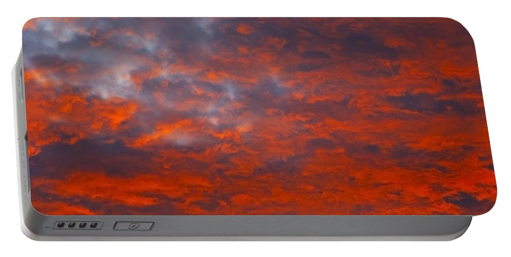 Cloud Portable Battery Charger featuring the photograph Wild Sky by Greg Wells
