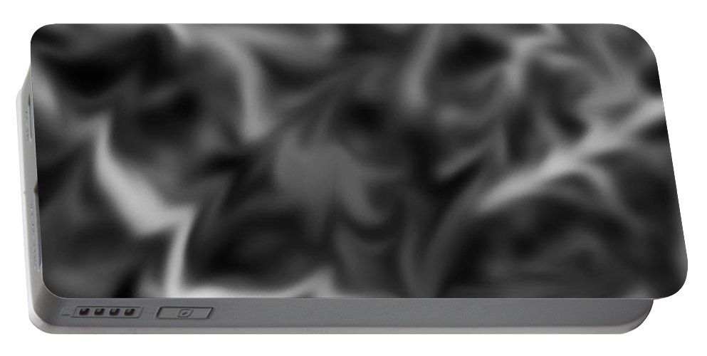 Abstract Portable Battery Charger featuring the photograph Wild Wetlands Black And White by Photos By Cassandra