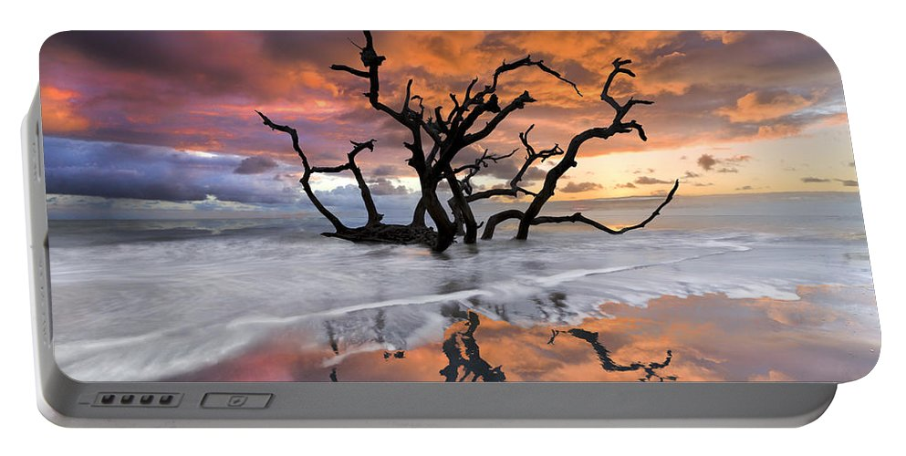 Clouds Portable Battery Charger featuring the photograph Wildfire by Debra and Dave Vanderlaan