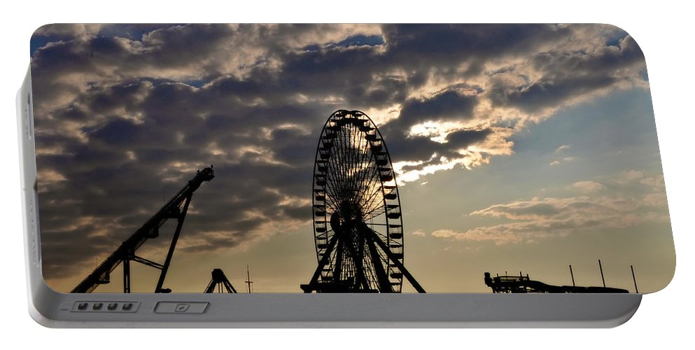 Wildwood Portable Battery Charger featuring the photograph Wildwood Rides by Bill Cannon