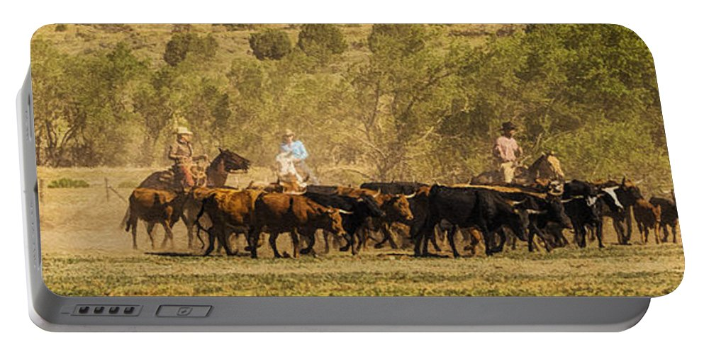 williamson Valley Roundup 7 Portable Battery Charger featuring the photograph Williamson Valley Roundup 7 by Priscilla Burgers
