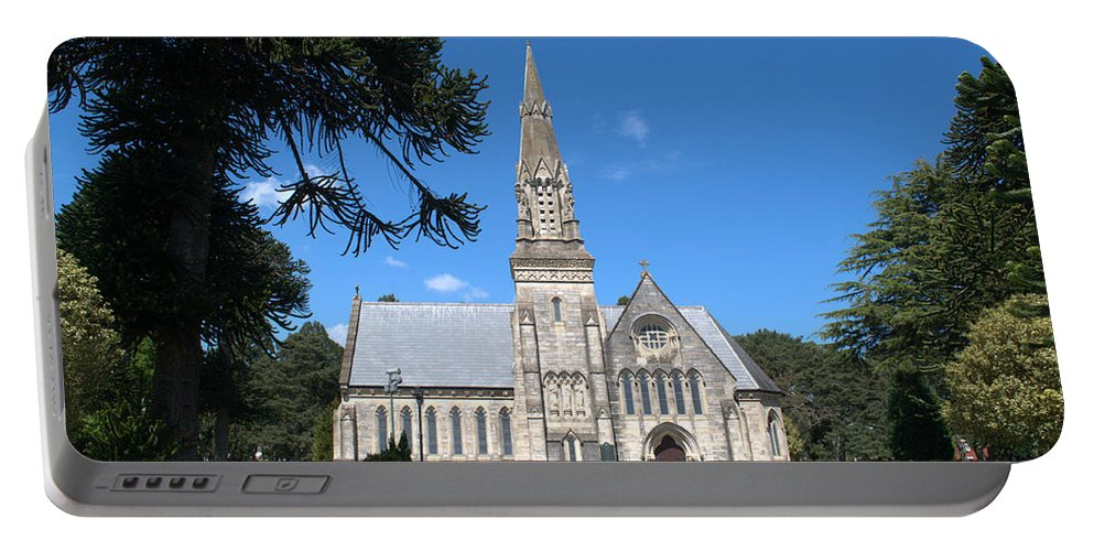 Chapel Portable Battery Charger featuring the photograph Wimborne Road Cemetery by Chris Day