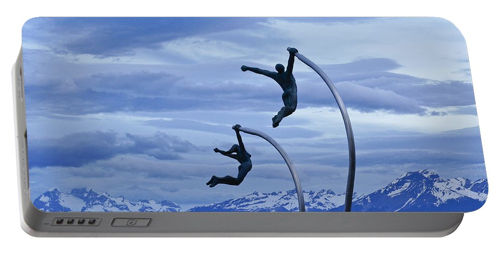 Chile Portable Battery Charger featuring the photograph Wind Dancers by Michele Burgess
