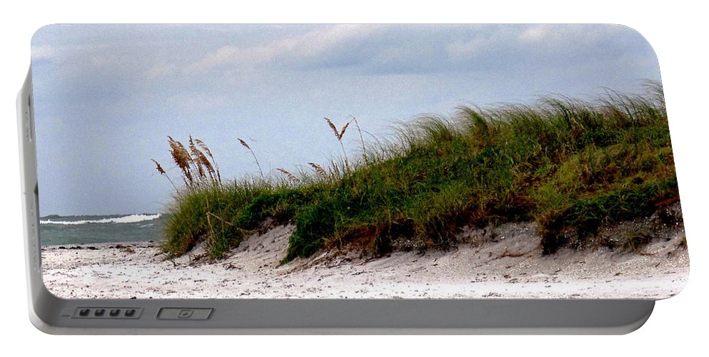 Beach Portable Battery Charger featuring the photograph Wind In The Seagrass by Ian MacDonald