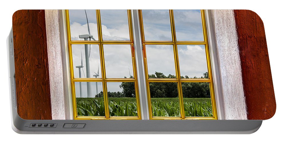 Architecture Portable Battery Charger featuring the photograph Wind Power by Semmick Photo