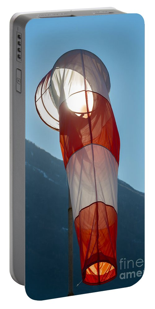 Windsock Portable Battery Charger featuring the photograph Wind Sock by Mats Silvan