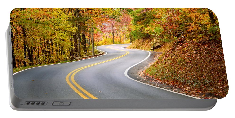 Road Portable Battery Charger featuring the photograph Winding Road by Alexey Stiop