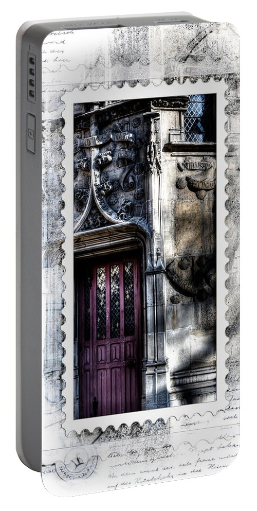Paris France Portable Battery Charger featuring the photograph Window Of Renaissance Paris France by Evie Carrier