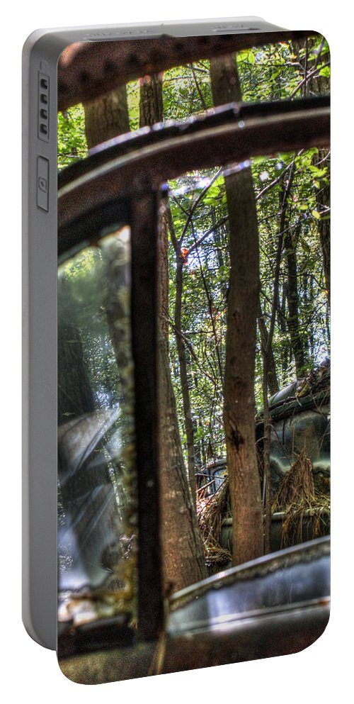 Window Portable Battery Charger featuring the photograph Window To A Window Via Tree by Douglas Barnett