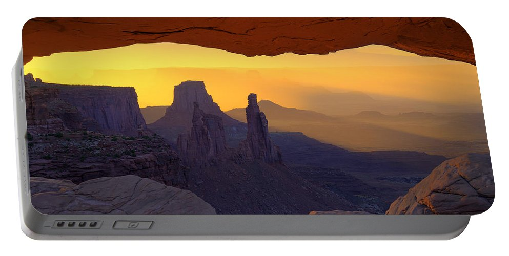 Mesa Portable Battery Charger featuring the photograph Window To Mystery by Dustin LeFevre