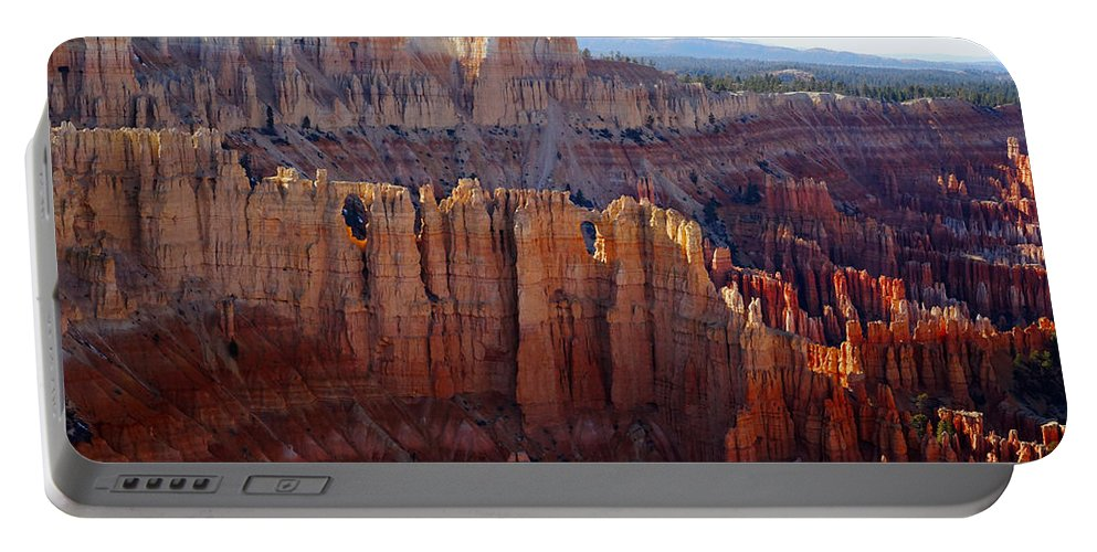 Bryce Canyon Portable Battery Charger featuring the photograph Windows Of Rock by Tayne Hunsaker