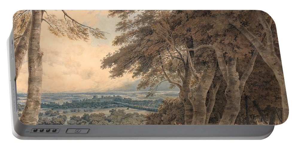 1798 Portable Battery Charger featuring the painting Windsor by JMW Turner