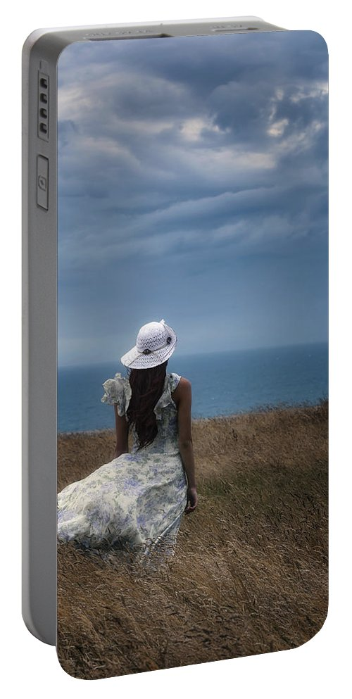 Girl Portable Battery Charger featuring the photograph Windy Day by Joana Kruse