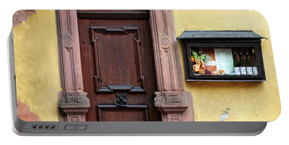 Wine Bar Portable Battery Charger featuring the photograph Wine Bar Door by Dave Mills