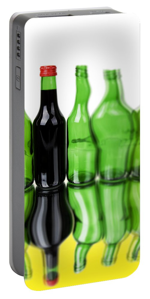 Bottle Portable Battery Charger featuring the photograph Wine Bottles by Chevy Fleet