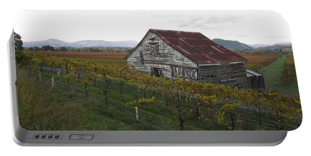 Landscape Portable Battery Charger featuring the photograph Wine Country by Nancy Worrell