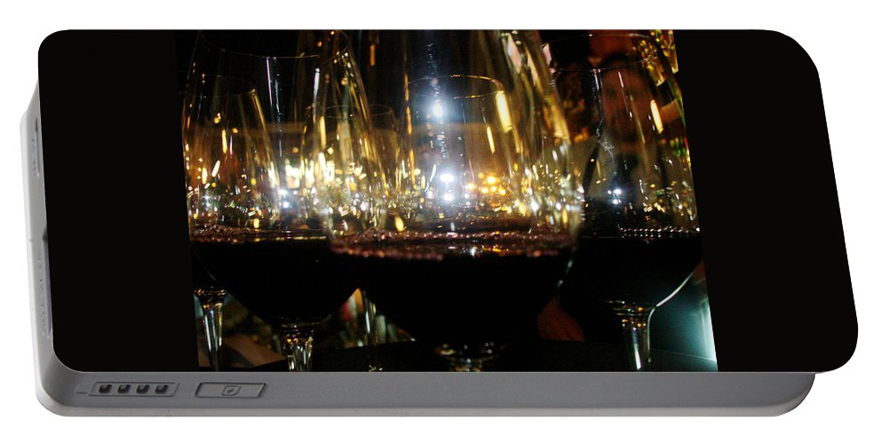 Portable Battery Charger featuring the photograph Wine by Sue Conwell