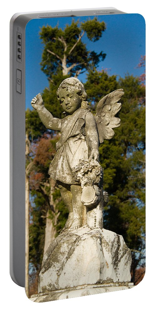 Winged Portable Battery Charger featuring the photograph Winged Girl 8 by Douglas Barnett
