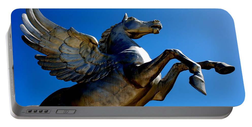 Horse Portable Battery Charger featuring the photograph Winged Wonder II by Charlie and Norma Brock